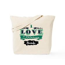 I Love Marcia Brady Tote Bag