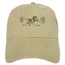 Playful Fox Terrier Baseball Cap