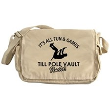 Pole Vault gear and merchandise Messenger Bag