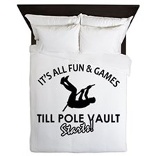 Pole Vault gear and merchandise Queen Duvet