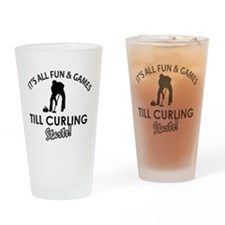 Curling gear and merchandise Drinking Glass