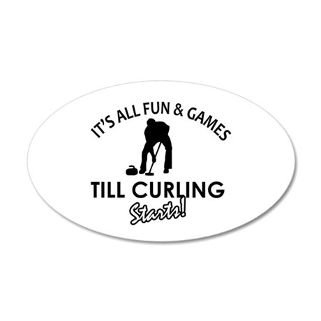 Curling gear and merchandise 35x21 Oval Wall Decal