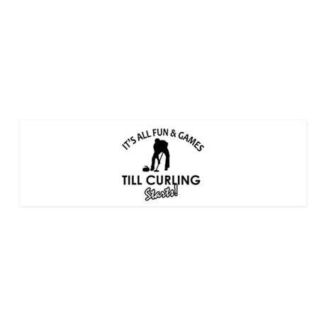 Curling gear and merchandise 20x6 Wall Decal