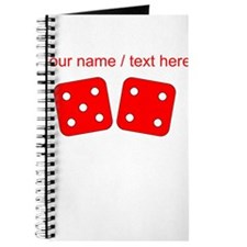 Custom Red Dice Five Four Journal