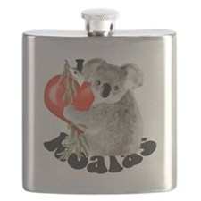 I Love Koalas Flask
