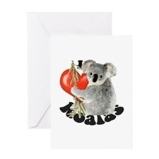I Love Koalas Greeting Card