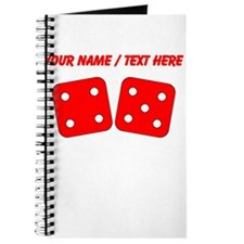 Custom Red Dice Four Five Journal