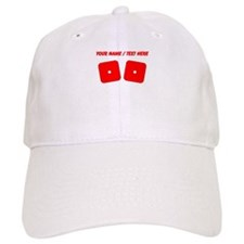 Custom Red Dice Snake Eyes Baseball Cap