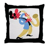 Sax Beat Chill Bliss Throw Pillow