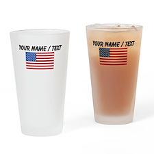 Custom United States Flag Drinking Glass