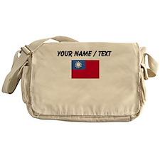 Custom Taiwan Flag Messenger Bag