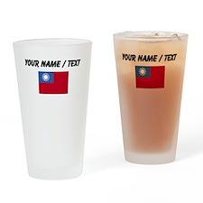 Custom Taiwan Flag Drinking Glass