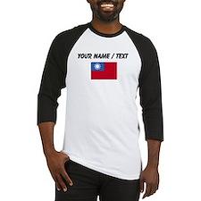 Custom Taiwan Flag Baseball Jersey