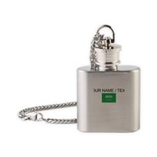 Custom Saudi Arabia Flag Flask Necklace