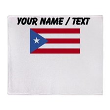 Custom Puerto Rico Flag Throw Blanket