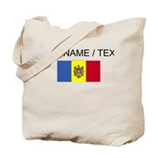 Custom Moldova Flag Tote Bag
