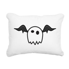 Ghost With Wings Rectangular Canvas Pillow