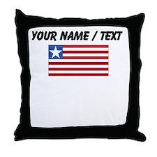Custom Liberia Flag Throw Pillow