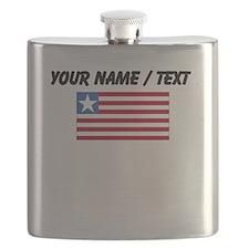Custom Liberia Flag Flask