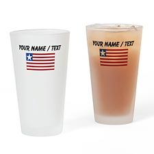 Custom Liberia Flag Drinking Glass