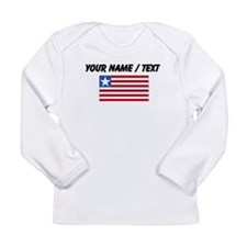 Custom Liberia Flag Long Sleeve T-Shirt