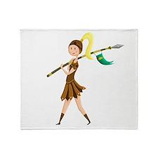 Warrior Princess Throw Blanket