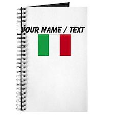 Custom Italy Flag Journal