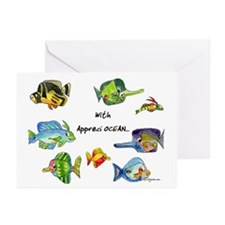8 Cartoon Fish Greeting Cards (Pk of 10)