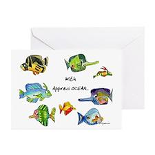 8 Cartoon Fish Greeting Cards (Pk of 20)