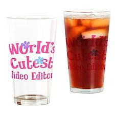 Worlds Cutest Video Editor Drinking Glass
