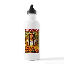 Vintage Mexico Fruit Travel Water Bottle