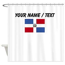 Custom Dominican Republic Flag Shower Curtain