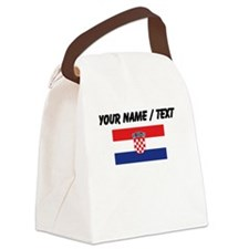 Custom Croatia Flag Canvas Lunch Bag