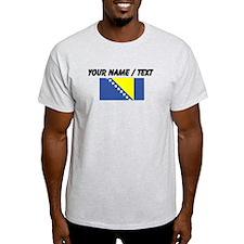 Custom Bosnia and Herzegovina Flag T-Shirt