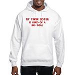 Twin Sister is a big deal Hooded Sweatshirt