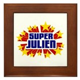 Julien the Super Hero Framed Tile