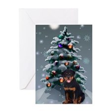 Rottweiler Christmas Greeting Card