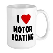 I Love Motor Boating Mug