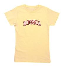 Team Russia (editable number) Girl's Tee