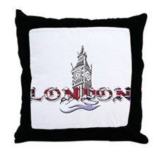 London: Clock Tower Throw Pillow