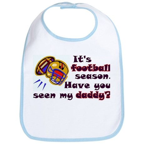 """Football Season...Daddy"" Bib"