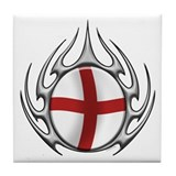 St Georges Cross: Tribal Arachnid Tile Coaster