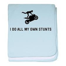 Stunt Rider baby blanket