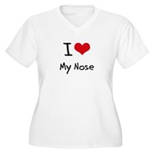 I Love My Nose Plus Size T-Shirt