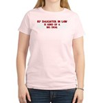 Daughter In Law is a big deal Women's Pink T-Shirt