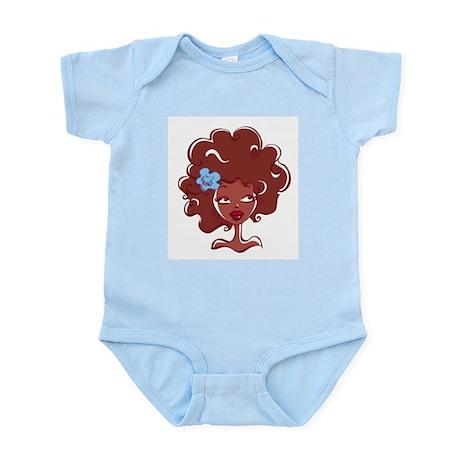 AFRO GIRL Infant Bodysuit by FELYNE Clothing