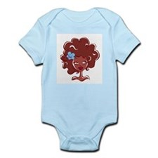 AFRO GIRL Infant Bodysuit by FELYNE Clothing
