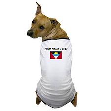 Custom Antigua and Barbuda Flag Dog T-Shirt