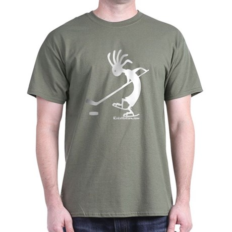 Kokopelli Hockey Player Dark T-Shirt
