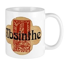Absinthe Faux Bottle Seal Small Mugs